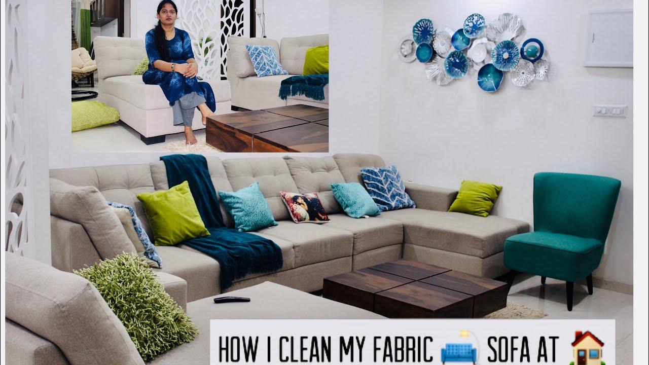 How I Clean My Sofa At Home?   Sofa Cleaning   Eureka Forbes Vogue   myself sailaja