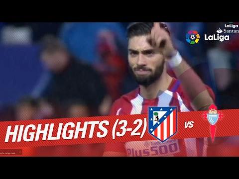 Resumen de Atlético de Madrid vs Celta de Vigo (3-2)