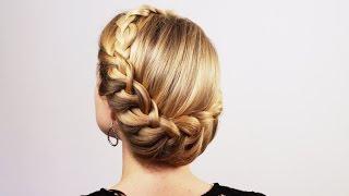 Прическа в греческом стиле. Greek Hairstyle(Подписывайтесь на мой канал http://www.youtube.com/user/4OXYGENE http://instagram.com/olyanaryzhnaya http://vpletaysya.ru http://vk.com/vpletaysya ..., 2014-12-07T13:36:55.000Z)