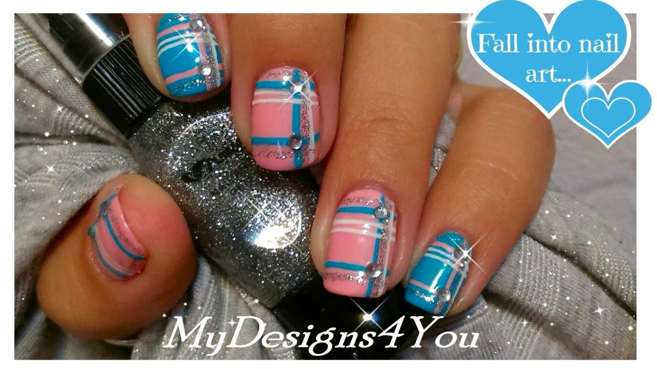 Great Nail Polish To Wear With Red Dress Huge Shades Of Purple Nail Polish Round Cutest Nail Art How To Start My Own Nail Polish Line Old Foot Nails Fungus GreenWhere To Buy Opi Gelcolor Nail Polish Romantic Plaid Nails | Baby Pink And Blue Plaid Nail Art ™�   YouTube