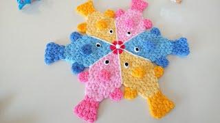 BALIKLI LİF MODELİ(Tasarım baykus_hobby)- çocuk lif modeli/baby crochet