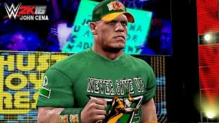 WWE 2K16 - John Cena's New 15X Green Attire - WWE RAW 12/28/15 ( XBOX ONE )