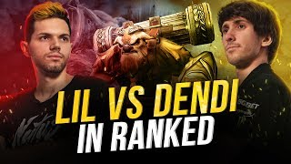 Lil on Shaker vs Dendi in ranked