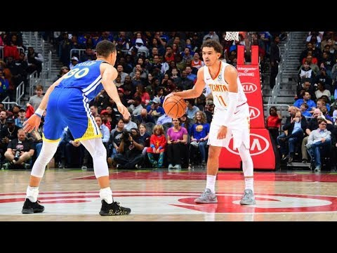 Stephen Curry vs Trae Young! Warriors Big 3 85 Pts! 2018-19 NBA Season