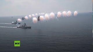 El desfile naval del puerto sirio de Tartus