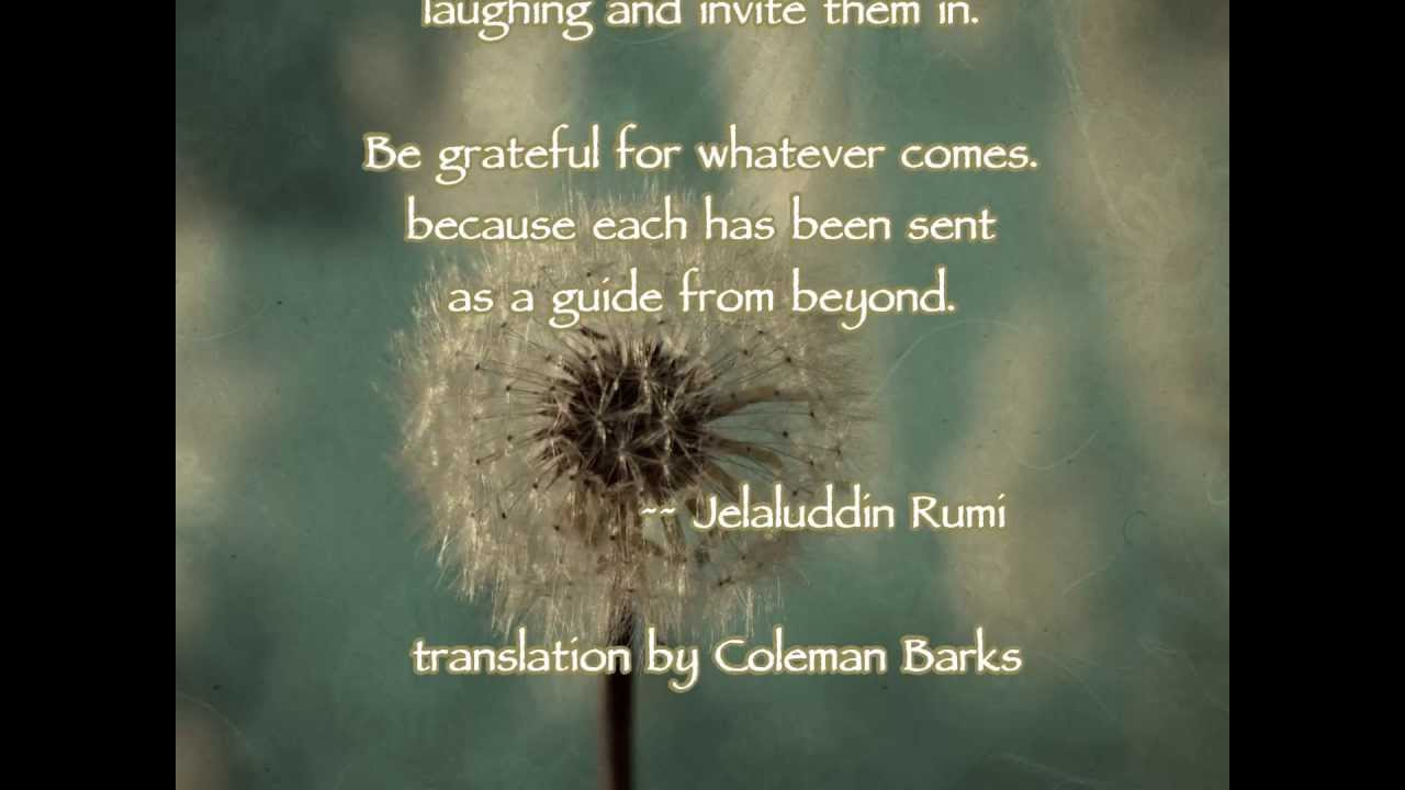 The Guest House Rumi Youtube