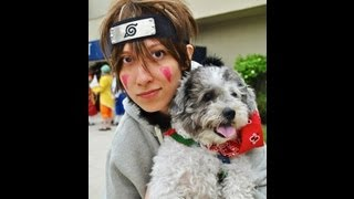 Dogs! Kiba and Akamaru Cosplay!