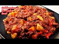 HOW TO COOK YUMMY CORNED BEEF CALDERETA!!!