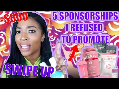 5 SPONSORSHIPS I REFUSED TO PROMOTE & WHY !