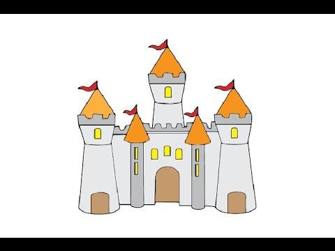 How To Draw A Castle Easy Step By Step / Как нарисовать замок