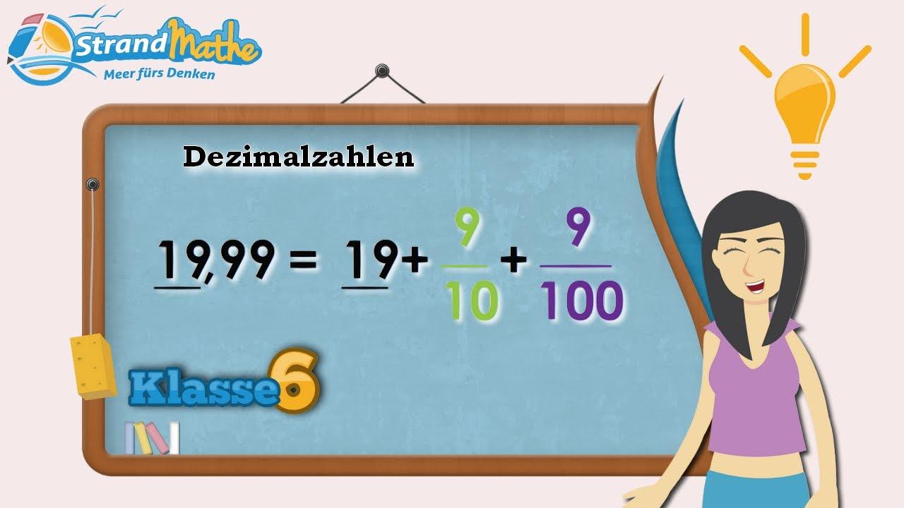 Dezimalzahlen verstehen || Klasse 6 ☆ Wissen - YouTube