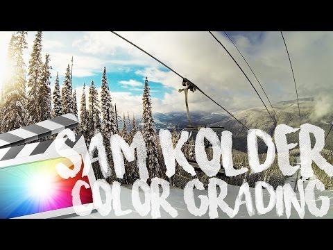 FREE SAM KOLDER COLOR GRADING in FCPX (2017)