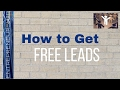 HOW TO GET FREE LEADS