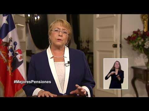 Presidenta Bachelet anuncia Sistema de Ahorro Colectivo para mejorar pensiones