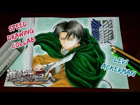 speed-drawing---levi-ackerman-(shingeki-no-kyojin-/-attack-on-titan)-collab