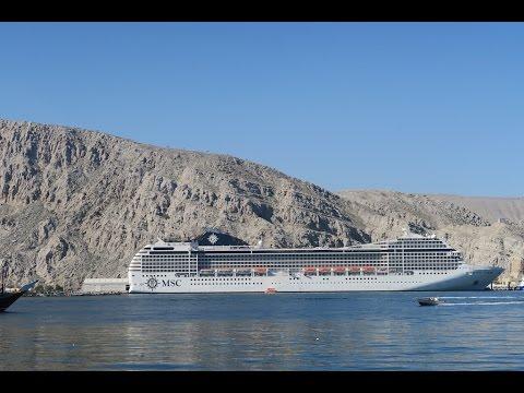 Cruise Dubai, Abu Dhabi, Khor al Fakkan, Muscat, Khasab. MSC Musica