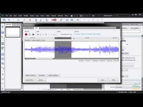31. Projede Arkaplana Ses Eklemek ve Ses Düzenleme Aracını Kullanmak