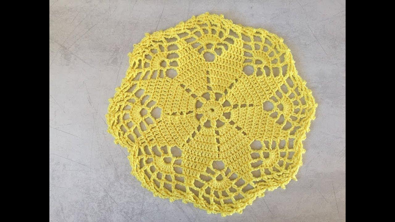 Tuto napperon au crochet youtube - Napperon crochet chemin de table ...
