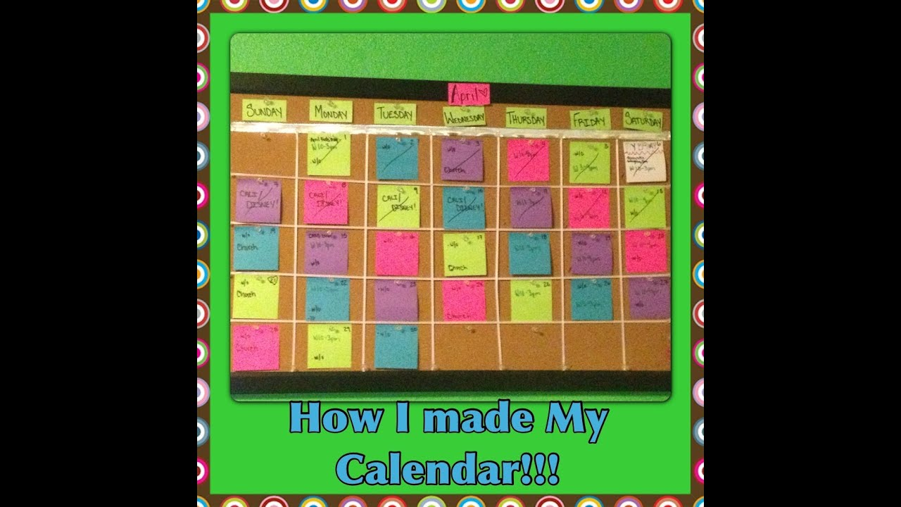 How I Make My Monthly Calendar! - YouTube