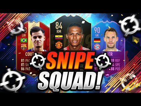 FIFA 19  SNIPE SQUAD 🔥  SNIPING AND SQUAD BUILDER CHALLENGE ☑️