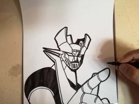 COMO DIBUJAR A MAZINGER Z / how to draw mazinger z - YouTube