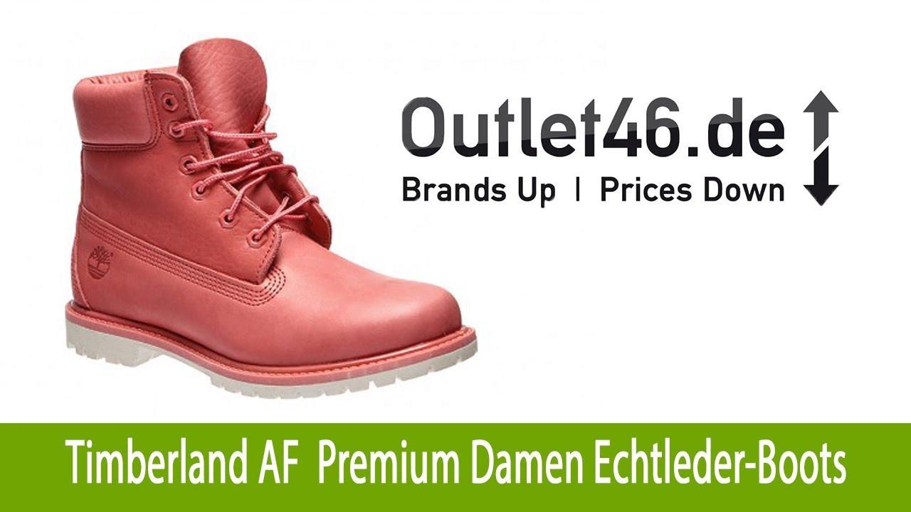 online store 3c358 1d1d1 Timberland AF 6-inch Premium Damen Echtleder-Boots Koralle   Outlet46.de