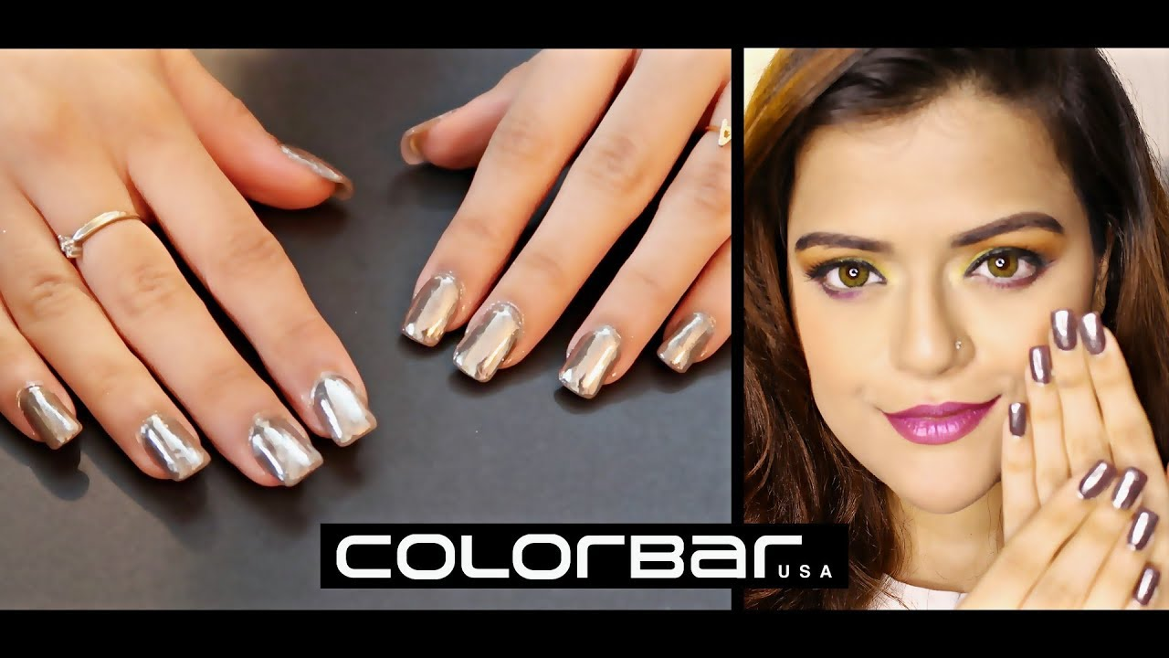 Get Mirror Effect On Nails At Home Chrome With Colorbar Magic Kit Demo Review