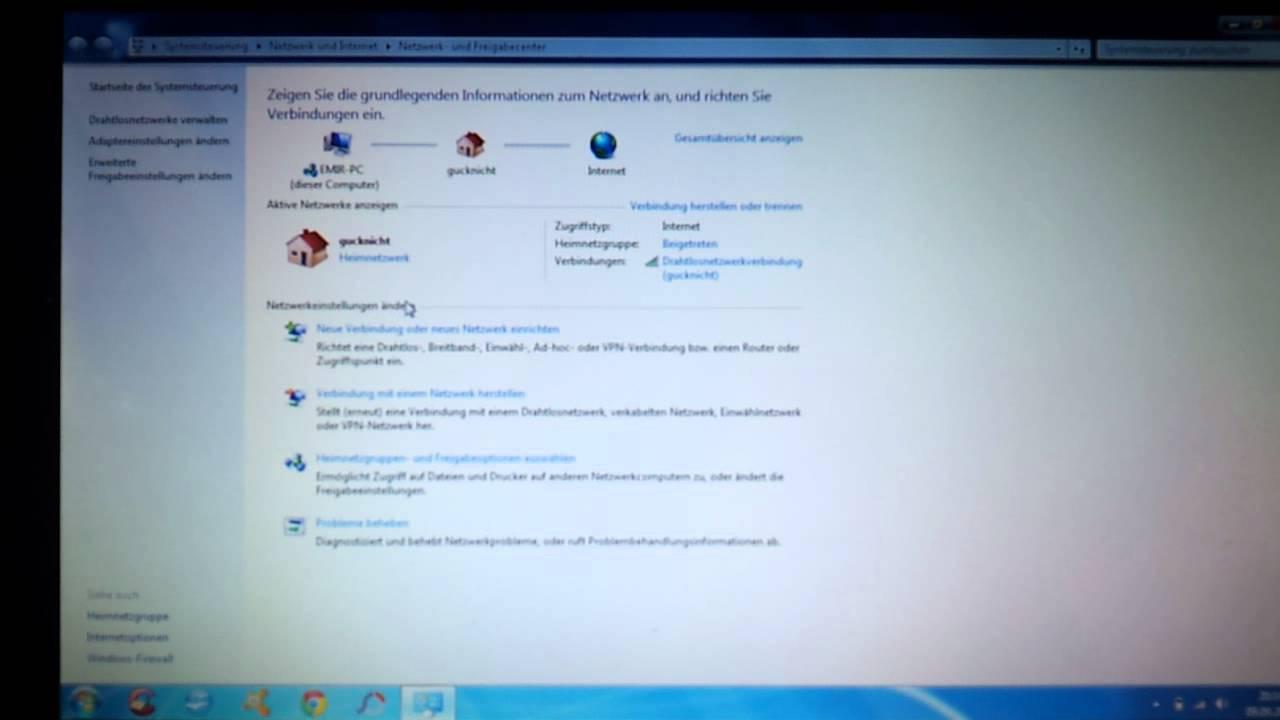 Heimnetzwerk Einrichten Netzwerk Bei Windows 7 Einrichten Youtube