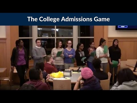 The Game of College Admissions