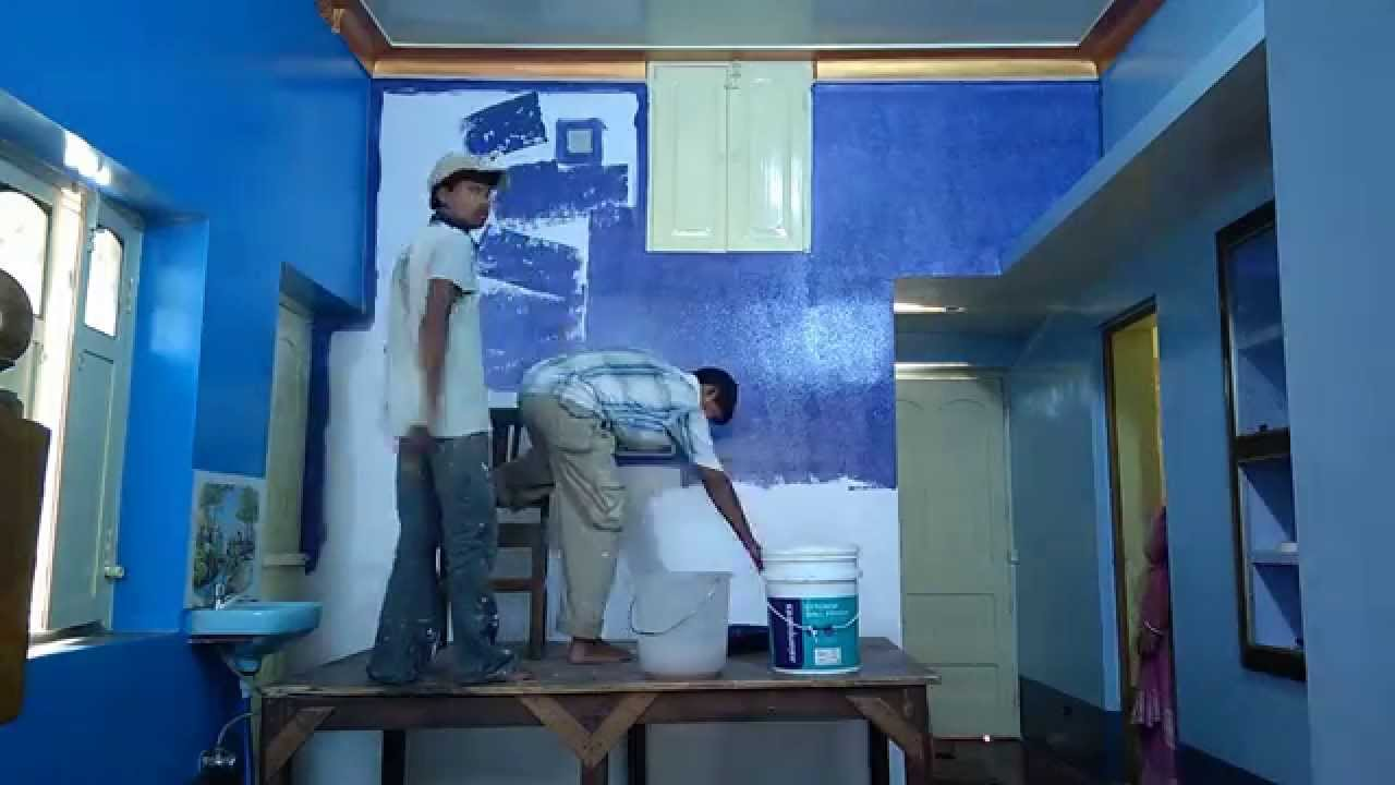 Home paint dulux velvet touch flower design youtube
