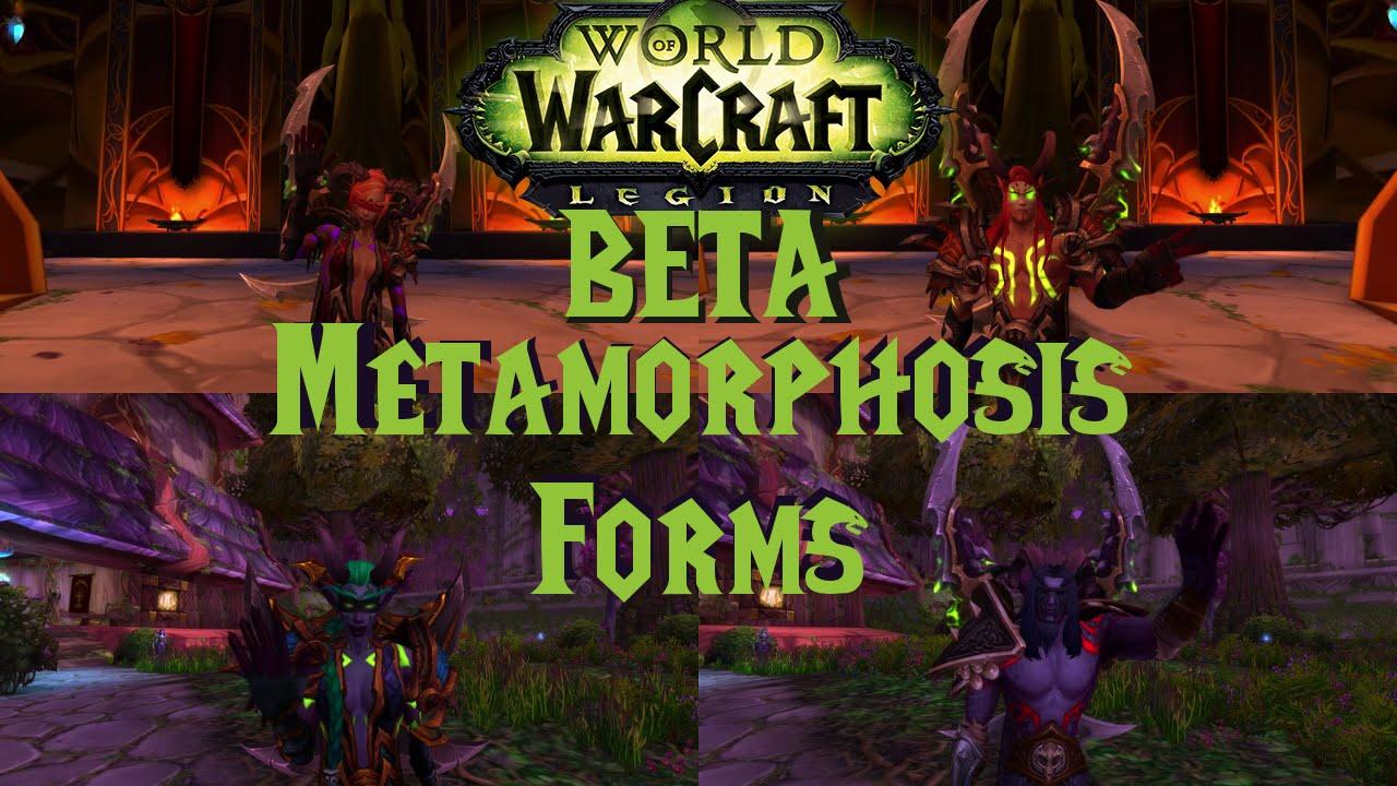 Legion BETA | All Demon Hunter Metamorphosis Forms - YouTube