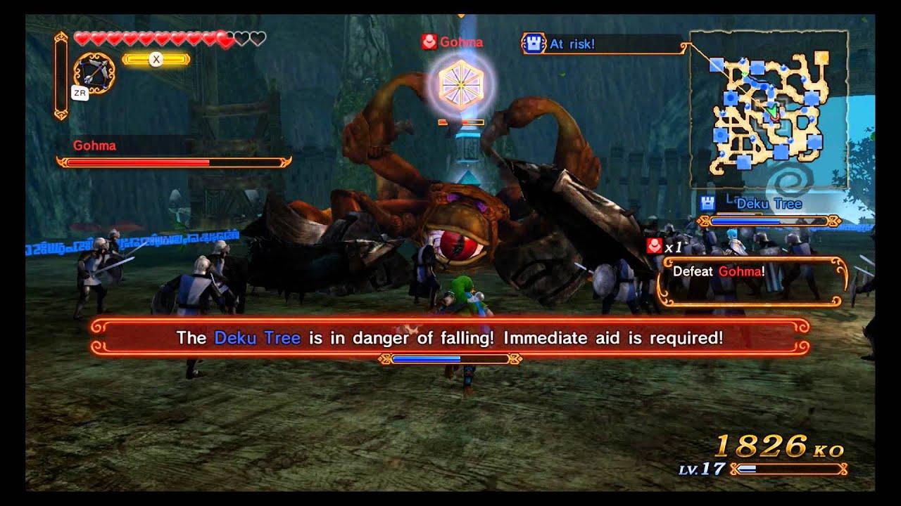How to defeat gohma in hyrule warriors - Hyrule warriors gohma boss battle legend mode direct feed wii u