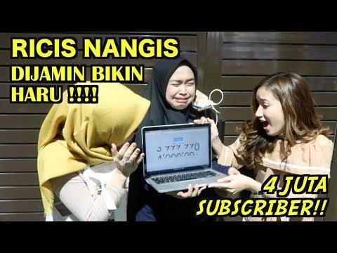 DETIK-DETIK TERHARU 4 JUTA SUBSCRIBER RICIS NANGIS :')