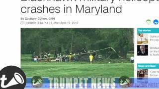 Black Hawk military helicopter crashes on Maryland golf course