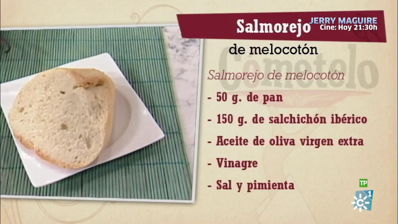Programa De Cocina Cometelo   Cometelo Salmorejo De Melocoton Youtube