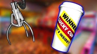 LUCKY CUP CLAW MACHINE WIN! | MATT3756