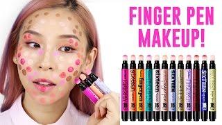 Finger Pen Makeup - Hot or Not? TINA TRIES IT