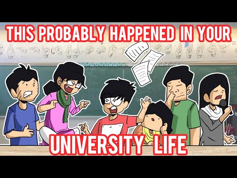 University Life Nowadays | A Cartoon Vlog By Antik Mahmud