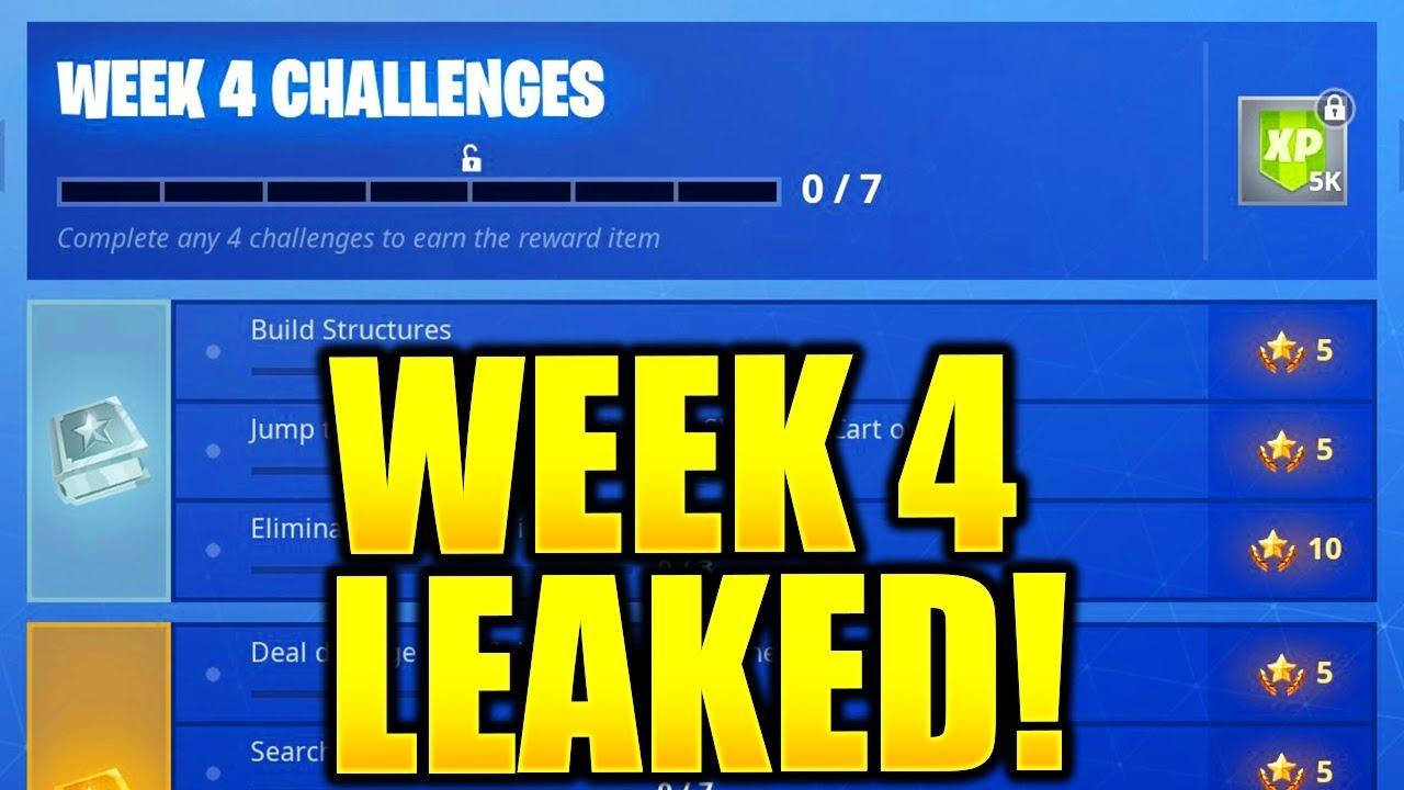 Fortnite Season 6 Week 4 Challenges Leaked Week 4 All Challenges