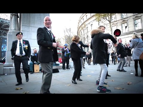 Play That Funky Music Senior Citizens Dancing - Remembrance Day London funny video