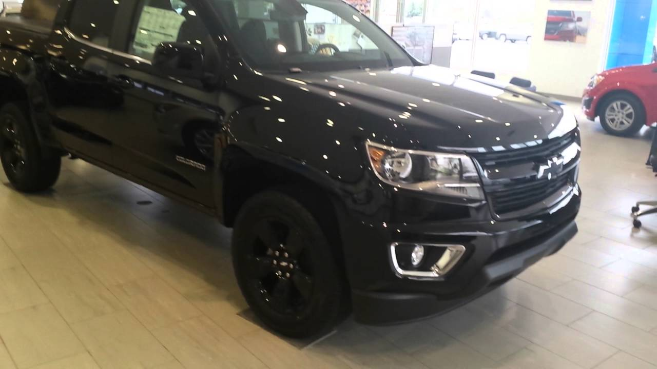 Colorado black chevy colorado : 2016 Chevy Colorado Crew Cab 4x4 lt Black - YouTube