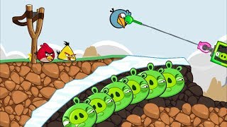 Bad Piggies - NINJA PIG HOLDING THE ANGRY BIRDS WITH GRAPPLE HOOK!