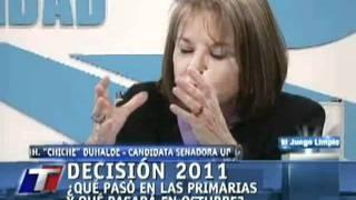 Fraude electoral primarias - Argentina - Hilda Duhalde - 25-08-2011 1/2