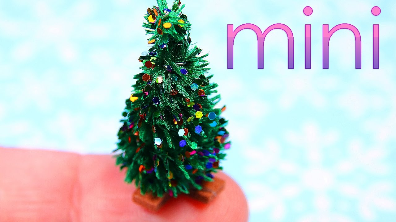 diy miniature christmas tree youtube - Miniature Christmas Decorations