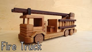 How To Make A Wooden Toy Fire Truck | Wooden Miniature - Wooden Creations