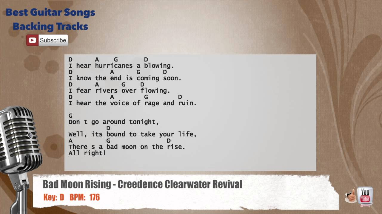 Bad Moon Rising Creedence Clearwater Revival Vocal Backing Track