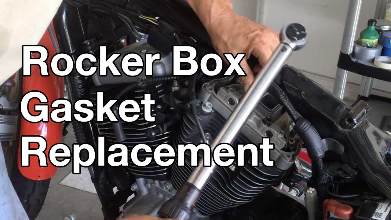 Head Gasket Replacement >> How To: Harley Davidson Sportster Rocker box gasket ...