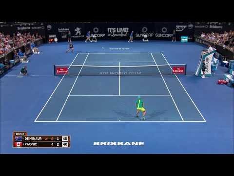 De Minaur vs Raonic Match Highlights (R2) | Brisbane International 2018