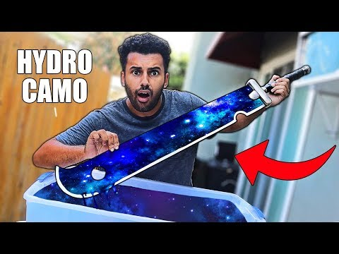 HYDRO Dipping DANGEROUS WEAPONS!! *INSANE DIY CUSTOM CAMOS*