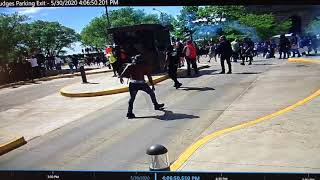 Surveillance video from Justice Center during Cleveland George Floyd demonstrations